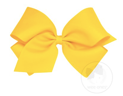 Yellow Grosgrain Bow