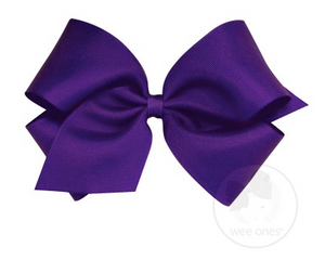 Purple Grosgrain Bow
