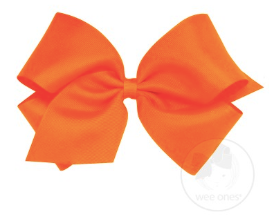 Orange Grosgrain Bow