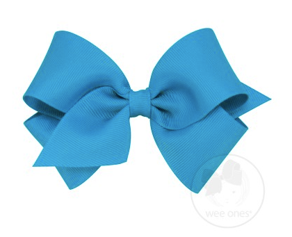 Island Blue Grosgrain Bow