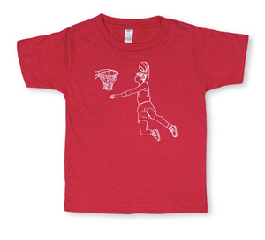 Basketball Player Short Sleeve Tee - Red