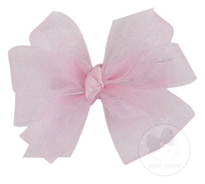 Light Pink Organza Double Bow