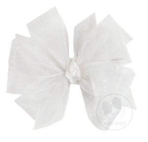 White Double Organza Bow