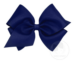 Light Navy Grosgrain Bow