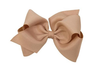 Oat Grosgrain Bow