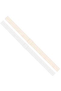 Add-a-Bow Elastic Bands - White and Ivory