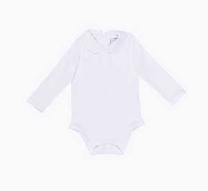 Ryann Long Sleeve Peter Pan Collar Onesie - White