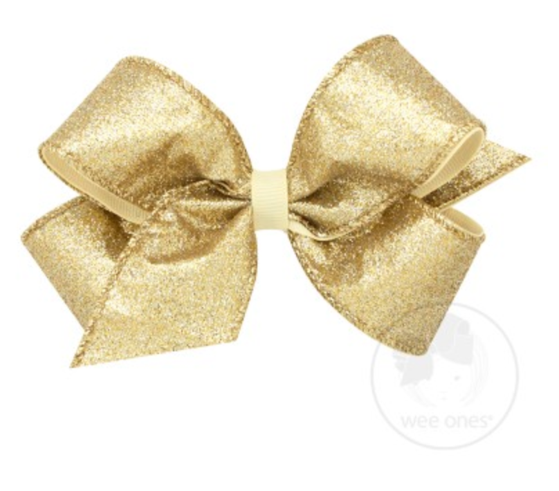 Gold Party Glitter Bow