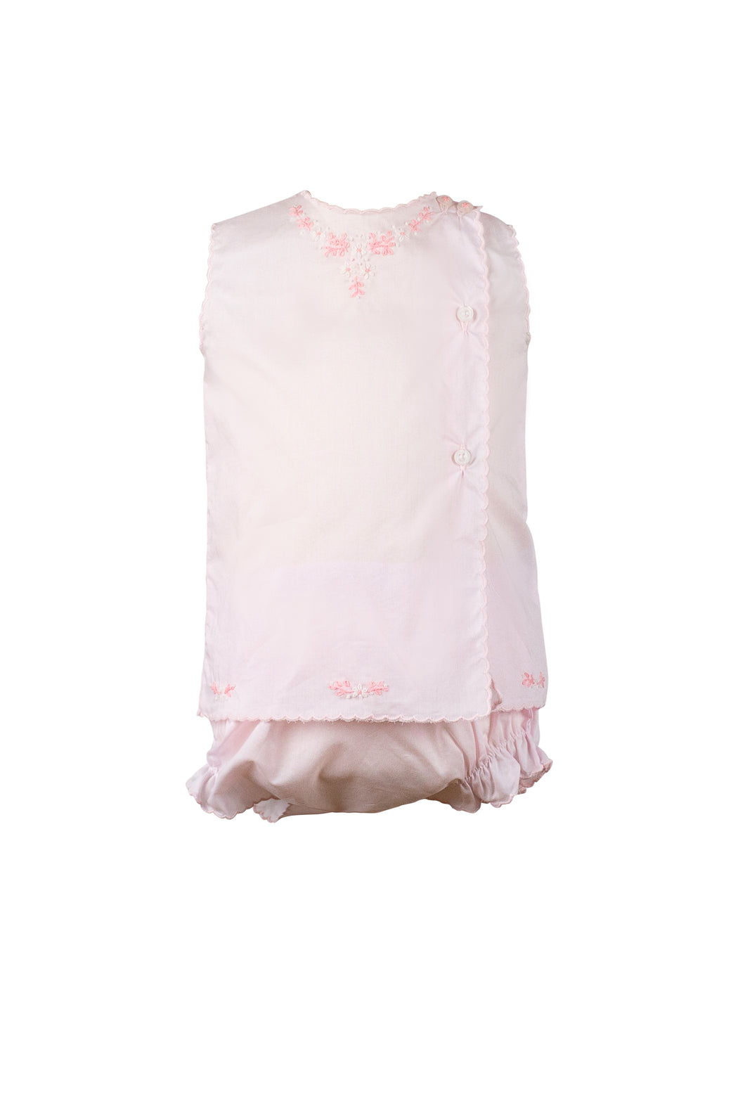 Susannah Pink and White Diaper Set