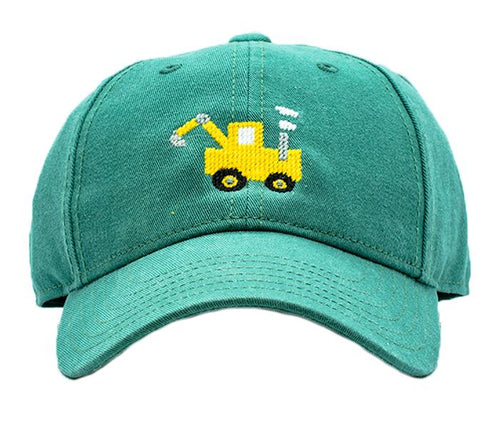 Tractor on Moss Green Kids Hat