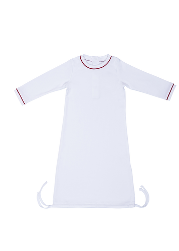 George Daygown - White with Red Piping