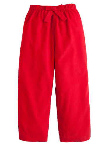 Bow Pant - Red Corduroy