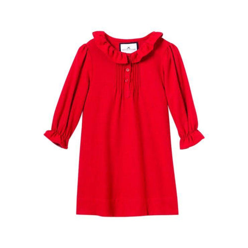 Red Victoria Flannel Nightgown