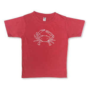 Kinda Crabby Short Sleeve Tee - Heather Red