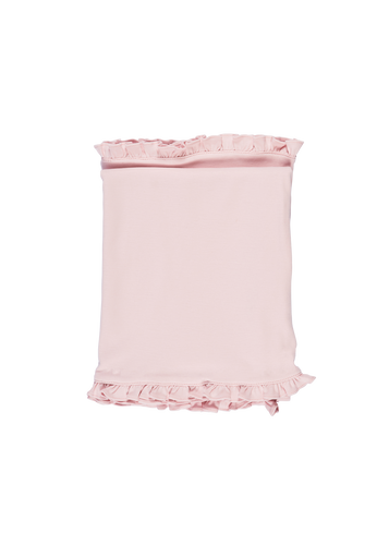 Ruffled Edge Blanket - Light Pink