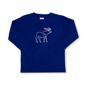 Moose Long Sleeve Tee - Navy