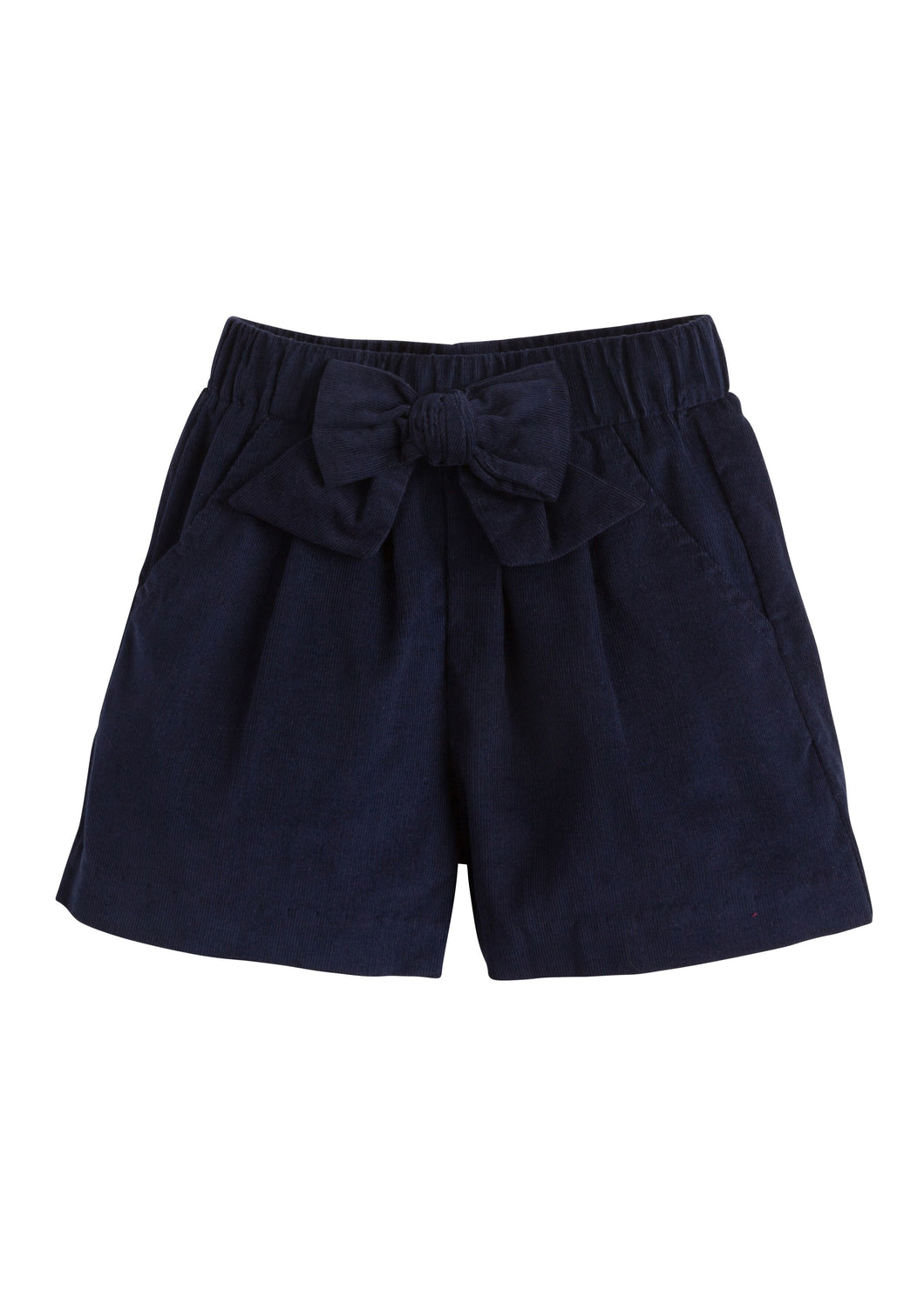 Bow Shorts - Navy Corduroy