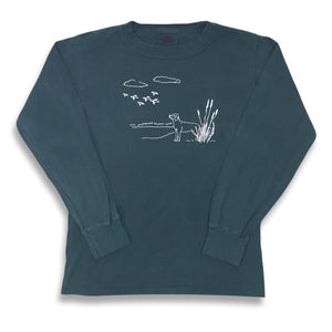 Duck Season Long Sleeve Tee - Green