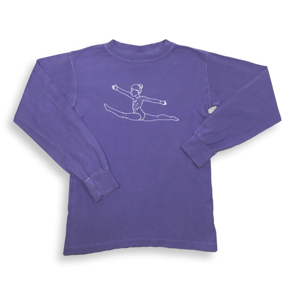 Gymnast Long Sleeve Tee - Purple