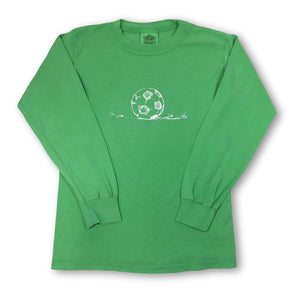 Soccer Ball Long Sleeve Tee - Green