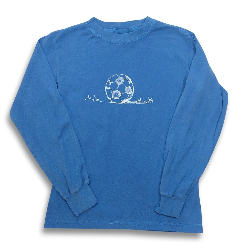 Soccer Long Sleeve Tee - Royal Blue