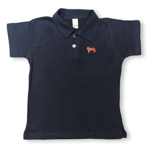 Tiger Polo Tee - Navy