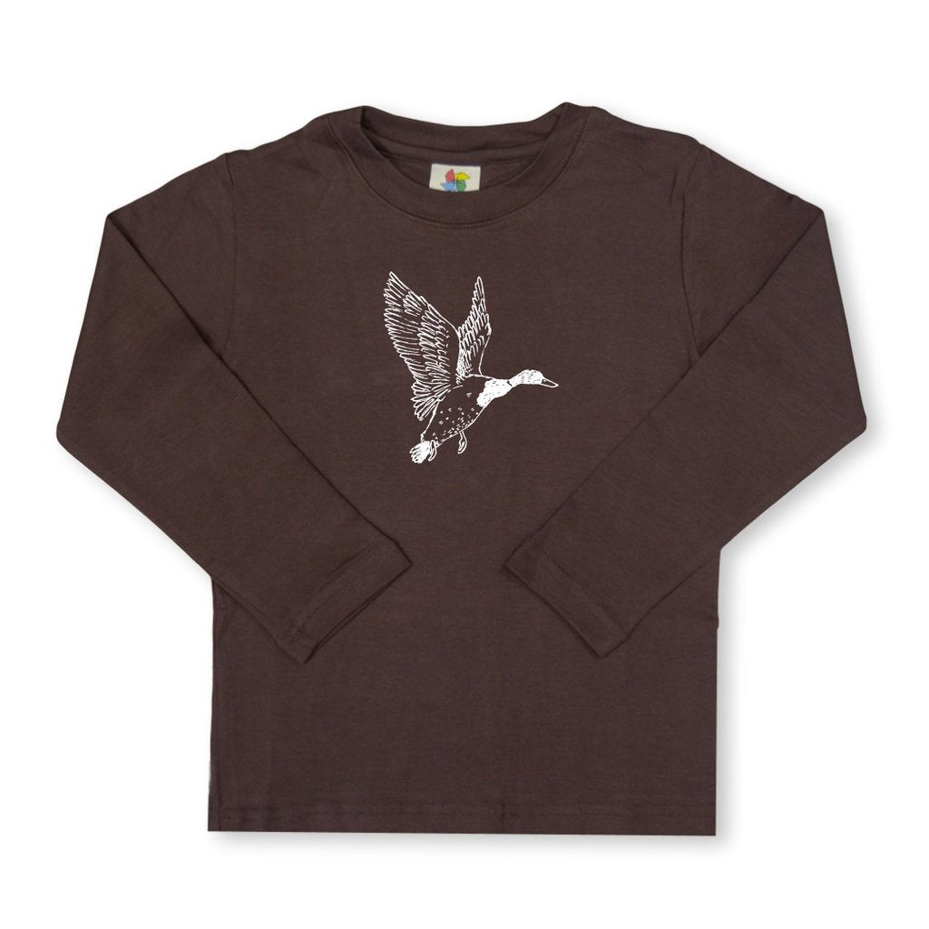 Mallard Long Sleeve Tee - Brown
