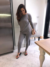 Load image into Gallery viewer, Light soft knit loungewear (grey)