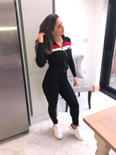 Load image into Gallery viewer, Two stripe fine knit fitted tracksuit