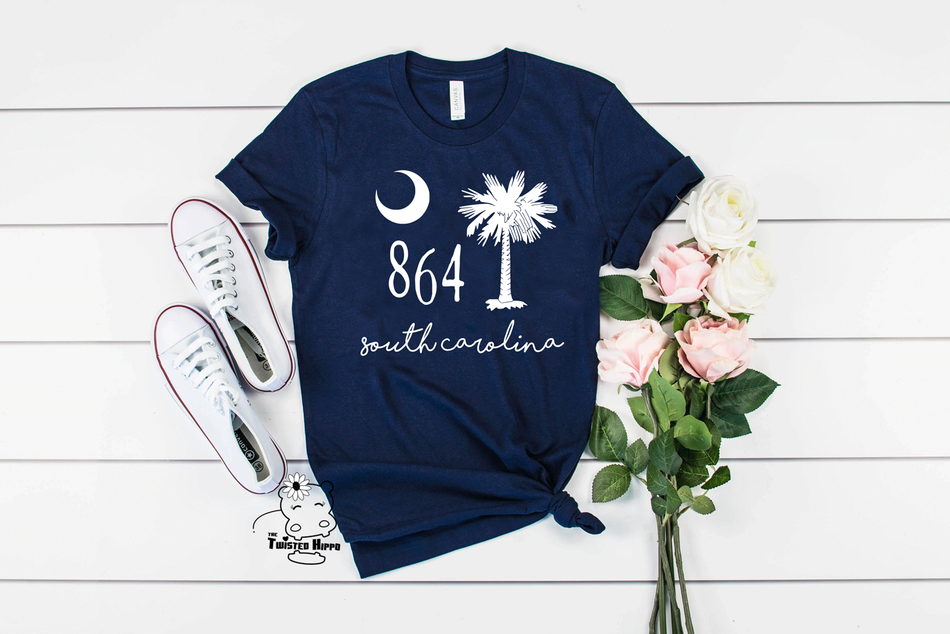 864 South Carolina Unisex Navy T-shirt