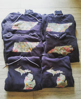 Show State Pride with Custom Vintage Floral Hooded Sweatshirts  . . .