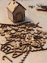 DIY Gingerbread Wooden Ornament