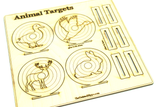 Laser Cut Wooden Rubber Band Gun Hunting Target DIY Kit -  Rabbit, Deer, Duck, Bird