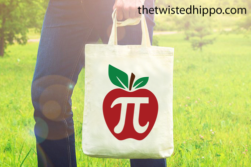 Apple Pi - Math Teacher - Teacher Appreciation Canvas Tote Bag