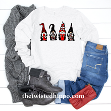 Load image into Gallery viewer, Love Gnomes Valentine's Long Sleeve T-shirt