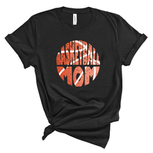 Load image into Gallery viewer, CLEARANCE Basketball Mom Grunge Ball Unisex Black Tee
