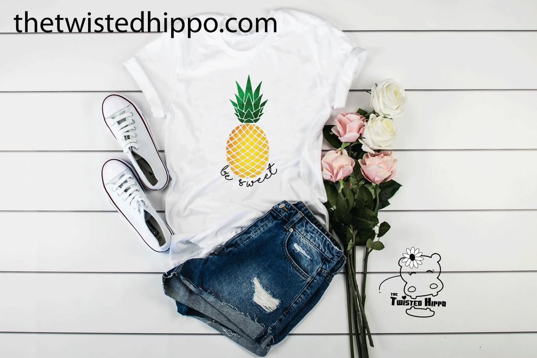 CLEARANCE Be Sweet Summertime Pineapple Unisex Tee