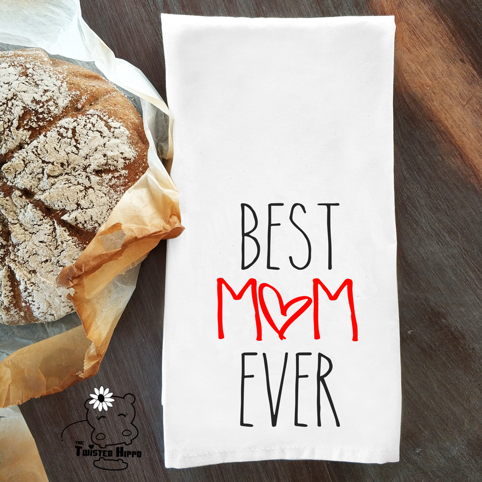 Best Mom Ever Ice Dish/ Hand Towel Mother's Day Gift