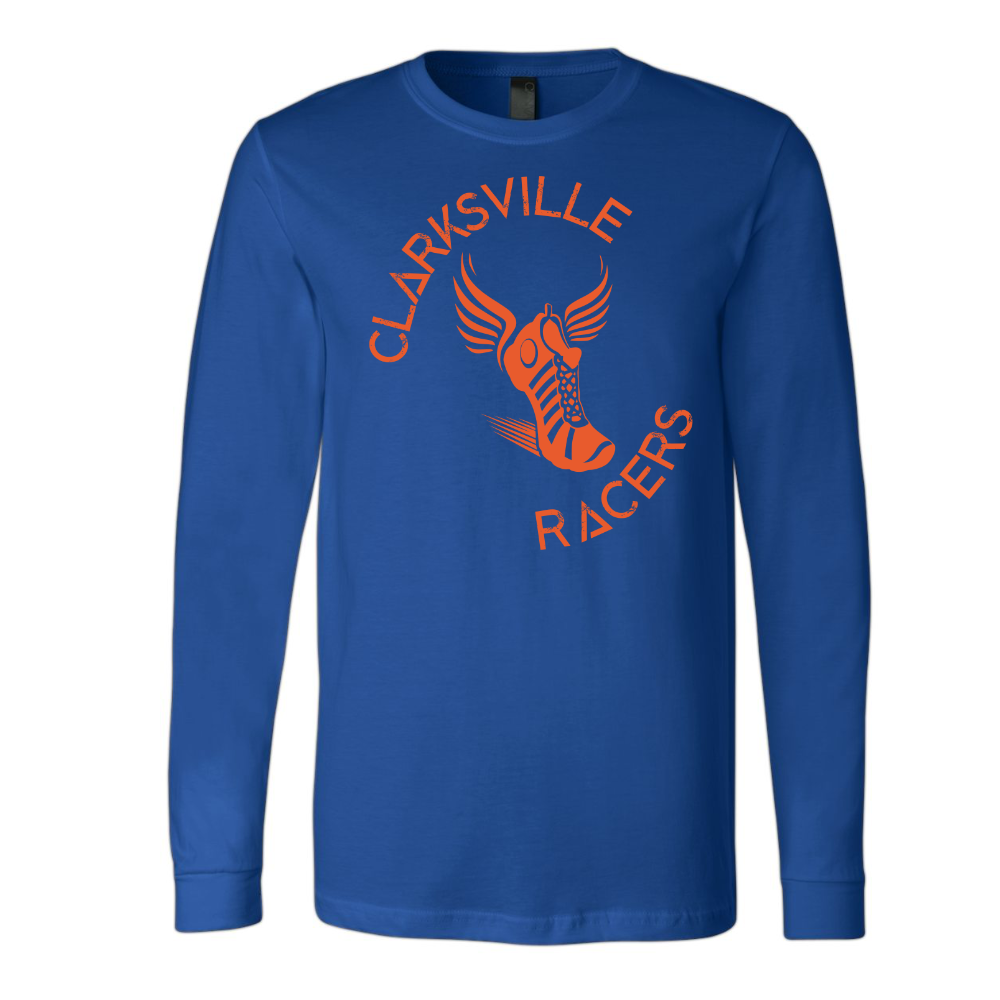 Clarksville Racers Youth Adult Long Sleeve Unisex Lightweight T-shirt