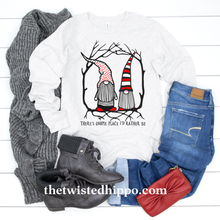 Load image into Gallery viewer, There's Gnome Place I'd Rather Be Long Sleeve Valentine's Tee
