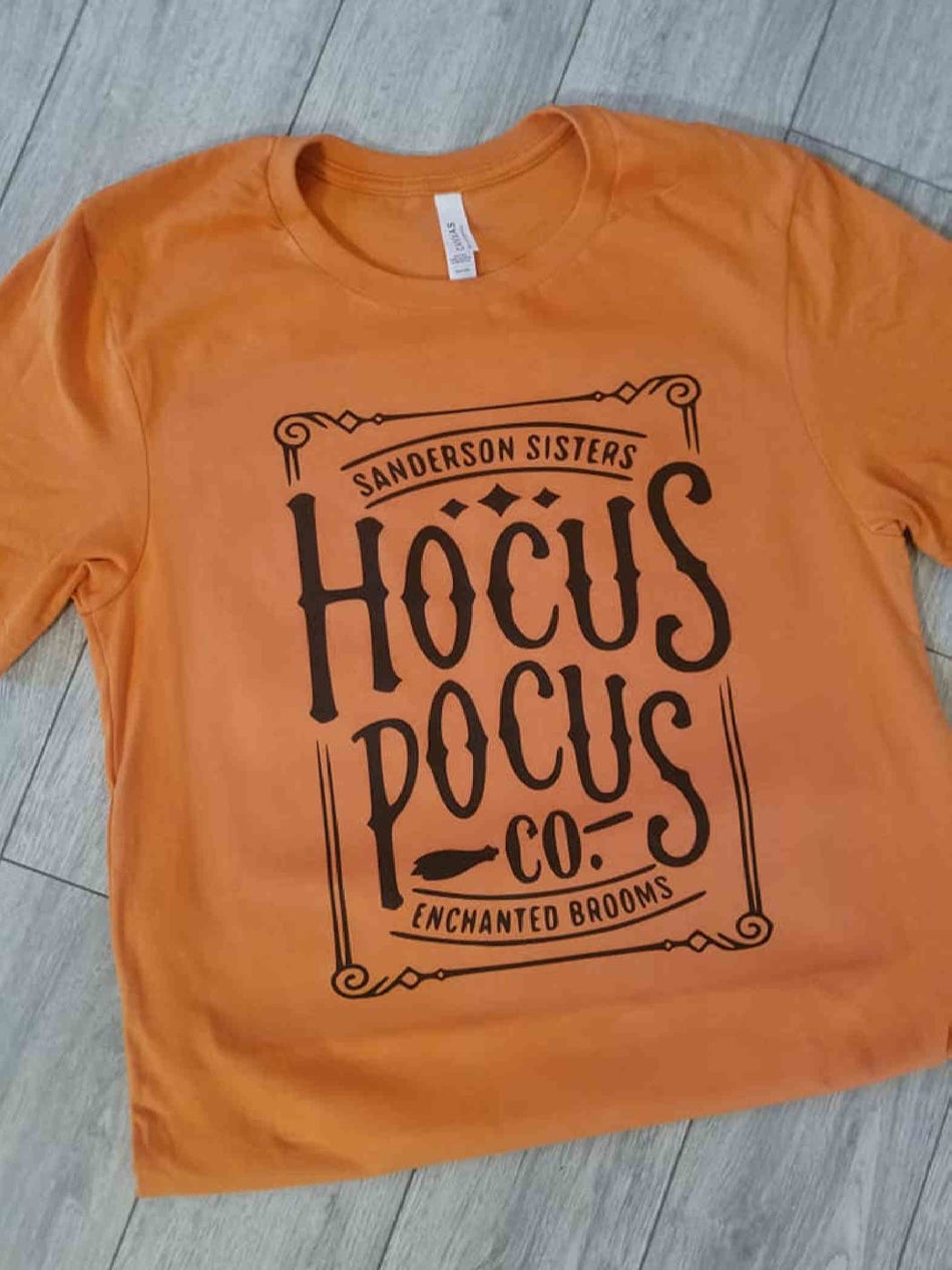 Hocus Pocus Company Orange Tee