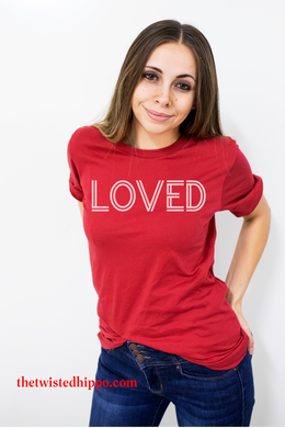 LOVED Valentine's Red Unisex Tee