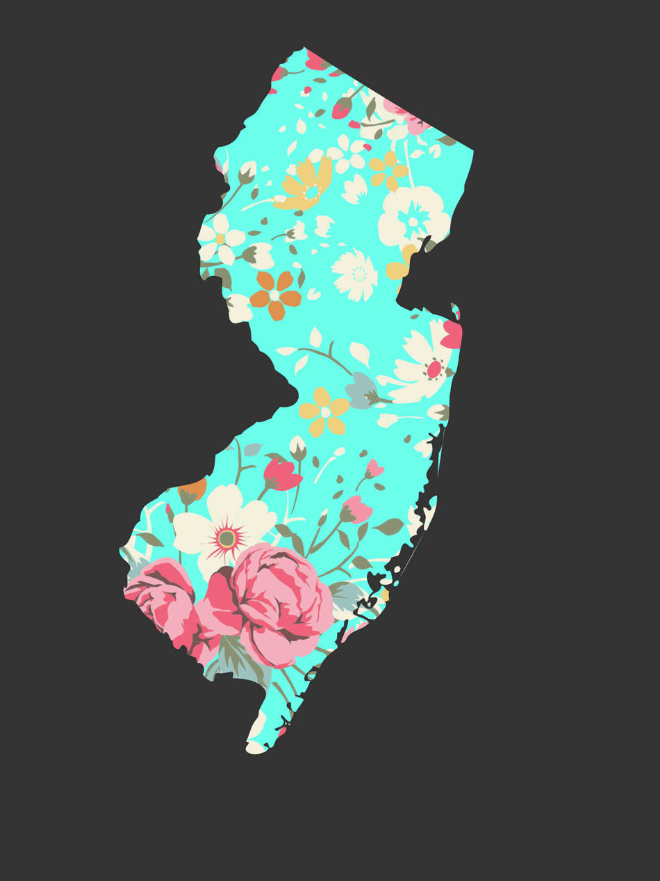 Where are you from? .... floral custom state tees!