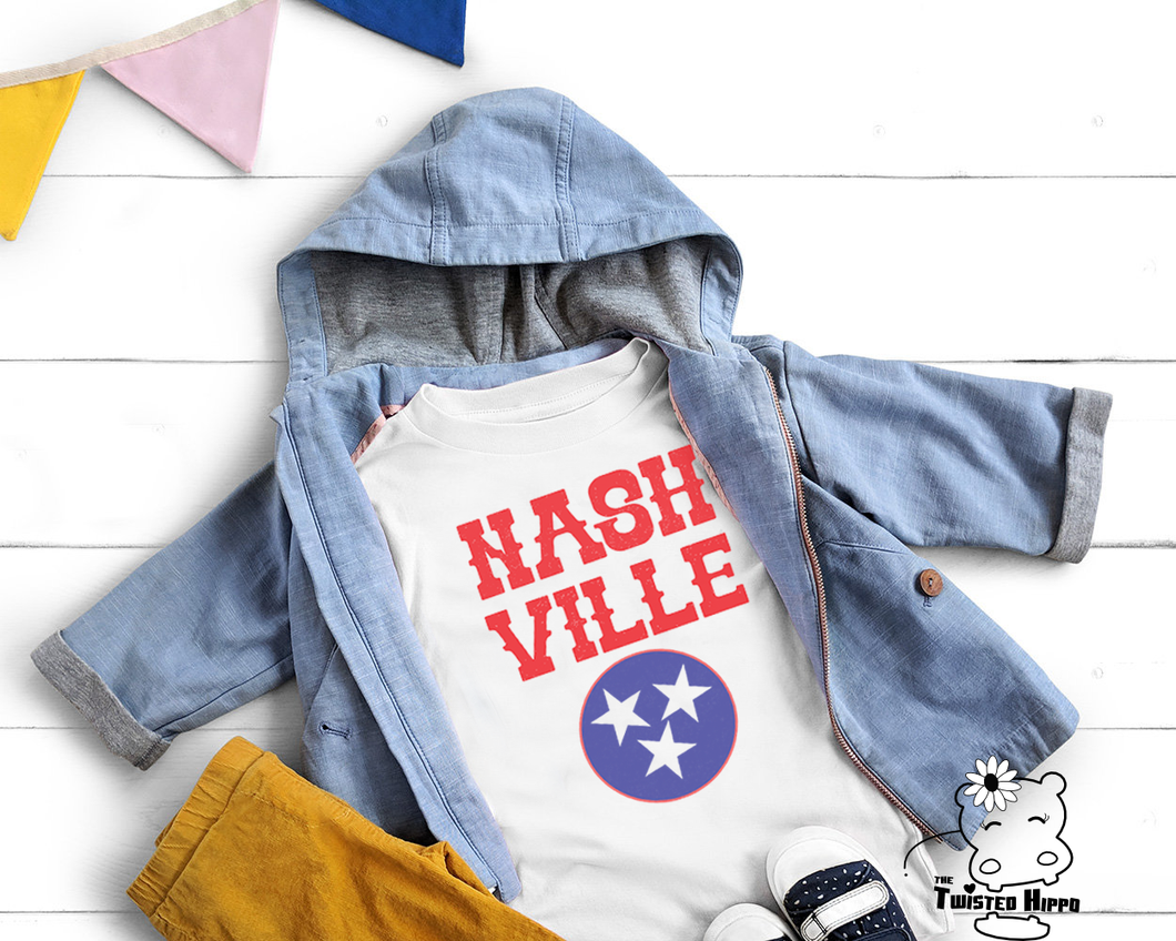 Nashville Kid's White Tee