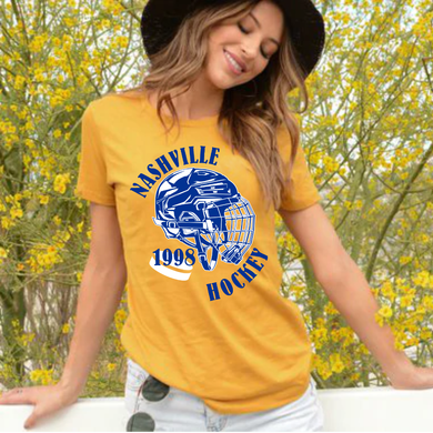 Nashville Hockey 1998 Preds Navy and Gold Unisex Tee