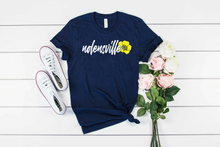 Load image into Gallery viewer, Nolensville Tennessee Buttercup - Hometown Navy Unisex Tee
