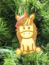 BOGO FREE Precious Unicorn Wooden Ornament