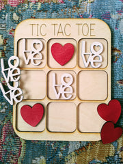 Valentine Wooden Tic Tac Toe