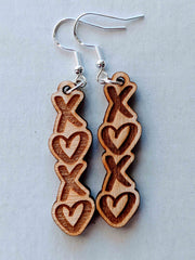 Wooden  XOXO Earrings