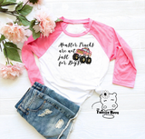 Monster Trucks Are Not Just For Boys Kid Youth Pink Raglan
